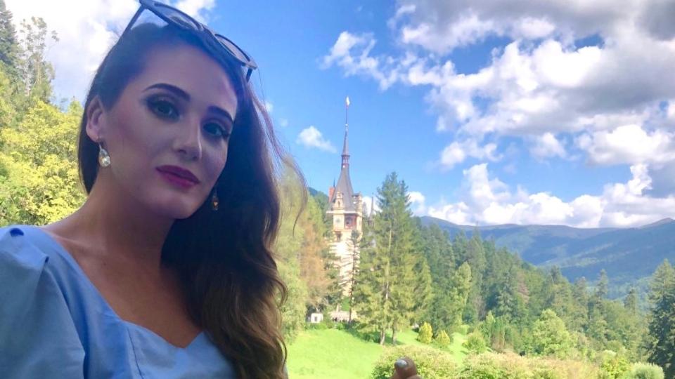 Castelul Peleș.Turist în România